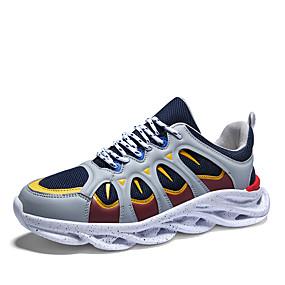 baratos Sapatos Esportivos Masculinos-Homens Sapatos Confortáveis Sintéticos Primavera Verão Casual Tênis Preto / Vermelho / Laranja / Bege