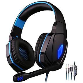 voordelige Gaming-kotion elke g4000 gaming headset stereo hoofdtelefoon met microfoon led licht beste casque voor computer pc gamer fone de ouvido