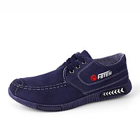 baratos Tênis Masculino-Homens Sapatos Confortáveis Jeans Primavera Verão / Outono & inverno Tênis Preto / Azul / Cinzento