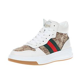 voordelige Damessneakers-Dames Sneakers Plateau Ronde Teen PU Herfst winter Beige / Khaki
