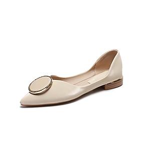 voordelige Damesschoenen met platte hak-Dames Platte schoenen Platte hak Gepuntte Teen Sprankelend glitter Microvezel Lente & Herfst Licht Groen / Geel / Beige