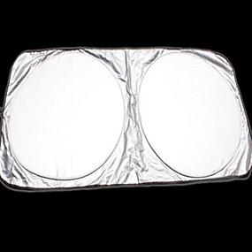 voordelige Autohoezen-groot formaat zonnescherm voor auto's zilver gecoate dubbele lus ultra sterke automotive zonneklep