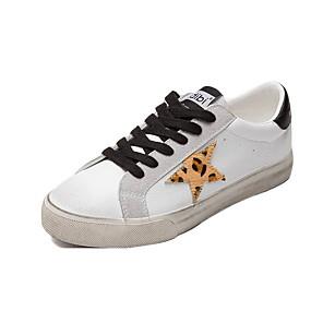 voordelige Damessneakers-Dames Sneakers Platte hak Ronde Teen Canvas Zomer Zwart / Rood
