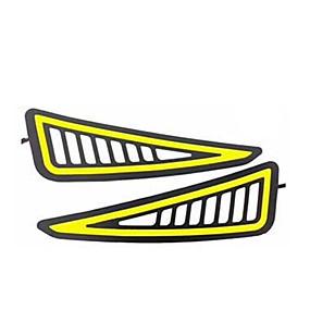 billige Nyankomne i oktober-2stk / mye bil styling drl cob led lampe fleksibel drl universal kjørelys bil kjørelampe blinklys drl cob vanntett 12v