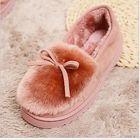 voordelige Damesinstappers & loafers-Dames Loafers & Slip-Ons Platte hak Ronde Teen Suède Herfst winter Roze / Grijs