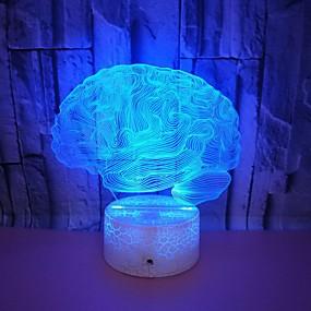 hesapli 3D Gece Işıkları-1pc 3D Gece Görüşü USB Çocuklar için / Yaratıcı / Doğum Dünü 5 V