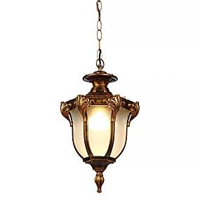 abordables Plafonniers-QIHengZhaoMing Lampe suspendue Lumière d'ambiance Plaqué Acrylique Verre 110-120V / 220-240V