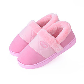 voordelige Damesinstappers & loafers-Dames Loafers & Slip-Ons Creepers Ronde Teen Suède Informeel Wandelen Winter Licht Roze / Paars / Roze