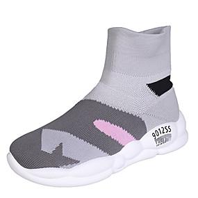 voordelige Damessneakers-Dames Sneakers Plateau Ronde Teen Tissage Volant Informeel Lente / Herfst winter Geel / Blauw / Grijs / Feesten & Uitgaan / Kleurenblok / leuze