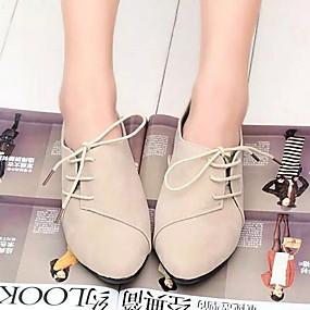 voordelige Damesschoenen met platte hak-Dames Platte schoenen Platte hak Ronde Teen Canvas Zomer Zwart / Geel / Rood