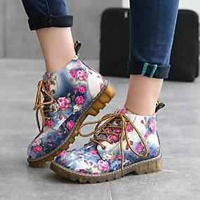 voordelige Damesschoenen met platte hak-Dames Platte schoenen Platte hak Ronde Teen PU Herfst winter Zwart / Blauw / Grijs