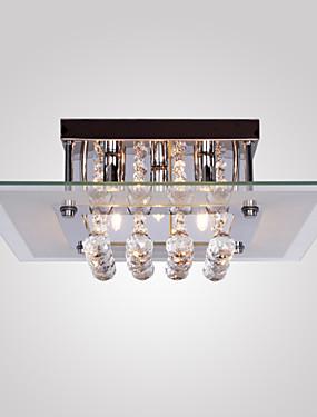 ราคาถูก บ้านและสวน-SL® 5-Light ไฟระย้า Ambient Light ชุบโลหะด้วยไฟฟ้า โลหะ แก้ว คริสตัล, Mini Style 110-120โวลล์ / 220-240โวลต์ หลอดไฟรวมอยู่ด้วย / G9