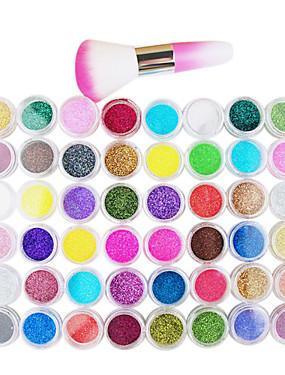 voordelige Nagelborstels-1pc Schitteren Nail Art Kit Voor 48 kleuren Nagel kunst Manicure pedicure Hedendaagse / Japanse en Koreaanse stijl / Free Form