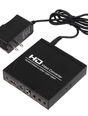 cheap Cables & Adapters-Scart +HDMI to HDMI Converter