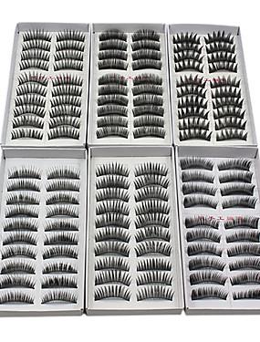 お買い得  お買い得 メイクアップ-まつ毛 つけまつげ 120 pcs 濃密 / ナチュラル / 厚型 まつ毛 クラシック 日常 化粧 化粧品