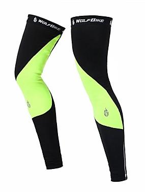 ieftine Sport i aktivnosti na otvorenom-WOLFBIKE Leg Warmers Keep Warm Ușor Rezistent la Vânt Cremă Cu Protecție Solară Rezistent la UV Bicicletă / Ciclism Negru Verde Poliester Spandex Fleece Iarnă pentru Bărbați Pentru femei Adulți