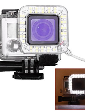 abordables Sports & Loisirs-Etui de protection USB LED Pour Caméra d'action Gopro 6 Gopro 5 Gopro 4 Gopro 4 Silver Gopro 4 Black Plastique / Gopro 3 / Gopro 3+ / Gopro 3/2/1 / Gopro 3 / Gopro 3+