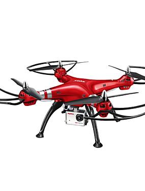 billige Salg-RC Drone SYMA X8HW 4 Kanaler 6 Akse 2.4G Med HD-kamera 5.0MP 1920*1080 Fjernstyrt quadkopter LED Lys / En Tast For Retur / Auto-Takeoff Fjernstyrt Quadkopter / Fjernkontroll / Kamera / Hodeløs Modus