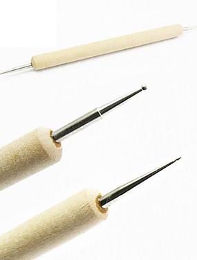 voordelige puntjes gereedschap-Hout Nail Art Tool Voor Vingernagel Teennagel Lichtgewicht Sterkte En Duurzaamheid Nagel kunst Manicure pedicure Klassiek / Modieus Dagelijks