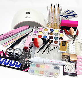 billige Neglesett-77pcs Nail Art Tool Nail Art Kits og tilbehør Nail Art Design