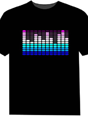 tanie Kostiumy karnawałowe-led t-shirty 100% bawełna 2 baterie aaa wysokiej jakości światło nocne