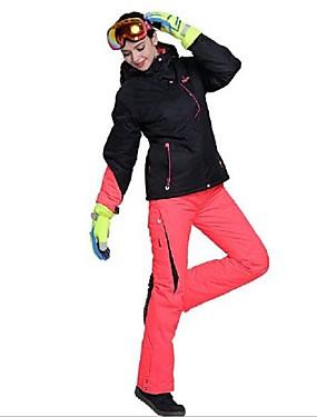 povoljno Sport és outdoor-Phibee Žene Skijaška jakna i hlače Vodootporno Vjetronepropusnost Toplo Skijanje Poliester Kompleti odjeće Skijaška odjeća
