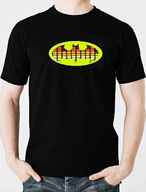 billige Karneval kostymer-LED T-skjorter Lighting / Stilig Design / Elektronisk Selvlysende Ren bomull Fest / Fritid 2 AAA Batterier