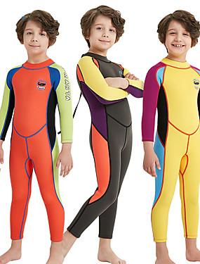 povoljno Sport és outdoor-Dječaci Dugo mokro odijelo 2mm SCR Neopren Ronilačka odijela Visoka elastičnost Rastezljiva UPF50+ Dugih rukava Povratak Zipper Kolaž / Dječji
