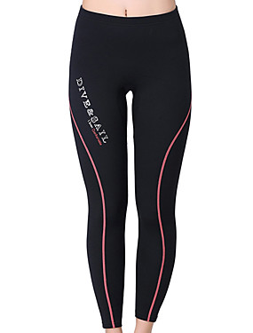 cheap Sports & Outdoors-Dive&Sail Women's Wetsuit Pants 1.5mm Elastane Bottoms Waterproof Thermal / Warm Breathable Swimming Diving Surfing Solid Colored / Quick Dry / Quick Dry / Ultraviolet Resistant
