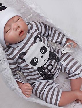 povoljno Igračke i hobiji-OtardDolls Autentične bebe Za muške bebe 20 inch Silikon - novorođenče vjeran Eco-friendly Dar Hand Made Sigurno za djecu Dječjom Dječaci / Djevojčice Igračke za kućne ljubimce Poklon / Floppy Head