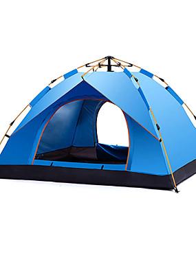 povoljno Sport és outdoor-DesertFox® 4 osobe Automatski šator Vanjski Otporno na kišu Jednostruki sloj Automatski Dome šator za kampiranje 1500-2000 mm za Kampiranje / planinarenje / Speleologija Oxford tkanje Oksford