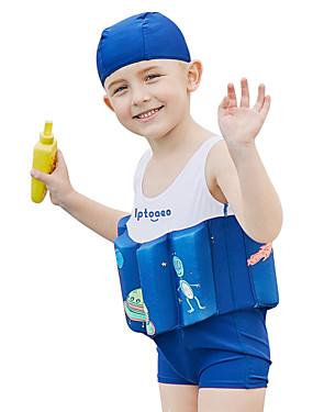 ieftine Sport i aktivnosti na otvorenom-SABOLAY Băieți Costum Scufundări din Piele Spandex Costume de Baie Fără manșon Înot Exerciții exterior Sporturi Acvatice Mată Desene Animate Primăvară Vară / Strech