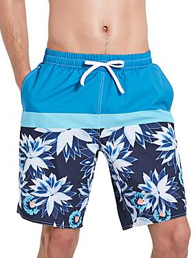 abordables Deportes y Ocio-SBART Hombre Pantalones de Natación Boxers de Natación Licra Pantalones de Surf Impermeable Transpirable Secado rápido Correa - Surfing Playa Deportes acuáticos Impresiones Reactivas Verano