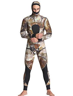 povoljno Sport és outdoor-MYLEDI Muškarci Dugo mokro odijelo 5mm SCR Neopren Ronilačka odijela Vodootporno Ugrijati Dugih rukava Povratak Zipper 2 dijela - Plivanje Ronjenje Surfanje kamuflaža Proljeće Ljeto Jesen