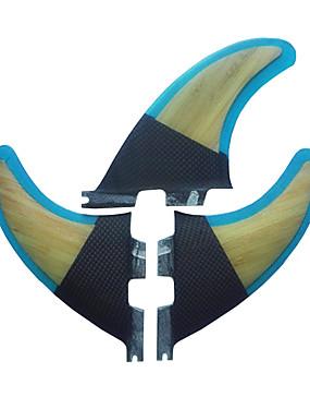 billige Sport og friluftsliv-Srfda Surfefinner G3 FCS II Base Tre Glass Fiber Senterfinne Venstre Fin Høyre Fin Til SUP surfebrett Longboards Shortboards 3 pcs