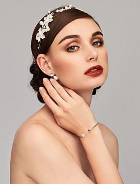 voordelige De Bruiloftswinkel-Dames Bangles Cuff armbanden Hart Modieus Legering Armband sieraden Goud / Zilver Voor Kerstcadeaus Bruiloft Verjaardag Lahja
