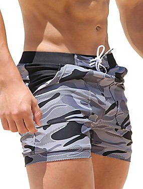 זול ספורט ושטח-בגדי ריקוד גברים מכנסי שורט בגדי ים מכנסי שחייה ספנדקס מכנסי גלישה נושם ייבוש מהיר שרוך - שחייה צלילה גלישה להסוות / מיקרו-אלסטי