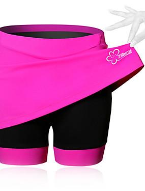 זול ספורט ושטח-SPAKCT בגדי ריקוד נשים חצאית לרכיבה אופניים מכנסיים קצרים / ושמלות / שורטים (מכנסיים קצרים) מרופדים נושם, 3D לוח אחיד, טלאים, קלאסי ספנדקס שחור / כחול / ורוד מתקדם רכיבת הרים מידת Semi-Form Fit