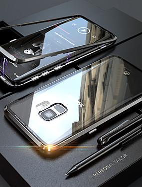 levne Telefony a příslušenství-Carcasă Pro Samsung Galaxy S9 / S8 Průsvitný / Magnetické Celý kryt Jednobarevné Pevné Tvrzené sklo / Kov pro S9 / S9 Plus / S8 Plus