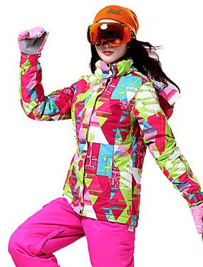 billige Sport og friluftsliv-Wild Snow Dame Skijakke og bukser Vindtett Varm Ventilasjon Ski & Snowboard Multisport Snøsport Polyester Klessett Skiklær / Vinter
