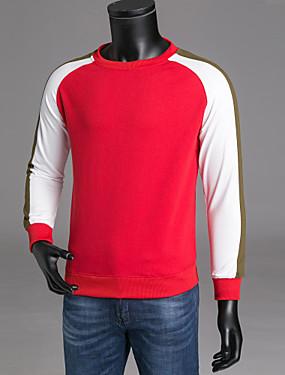 voordelige Weekly Deals-Heren Lange mouw Sweatshirt Kleurenblok Ronde hals