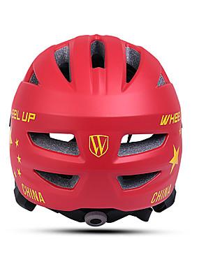 저렴한 스포츠 & 아웃도어-Wheel up 아동용 자전거 헬멧 13 통풍구 CE 충격 방지 일체식-몰디드 벨루어 EPS PC 스포츠 도로 자전거 산악 자전거 야외운동 - 레드 핑크 남아 여아