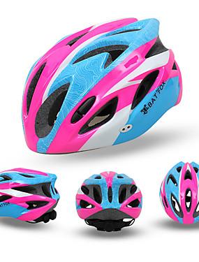 povoljno Sport és outdoor-BAT FOX Odrasli Bike kaciga 18 Ventilacijski otvori CE Otporan na udarce Prozračnost EPS PC Sportski Cestovni bicikl Mountain Bike Vježbanje na otvorenom - Zelen Plava Pink Muškarci Žene Uniseks