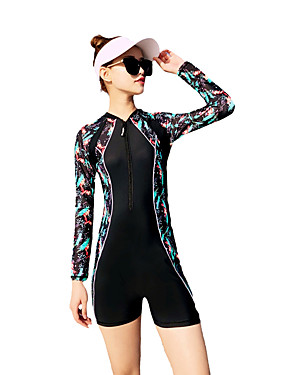 رخيصةأون رياضة والخارجية-نسائي ملابس السباحة سريع جاف سحّاب YKK      قابل للبسط نايلون سباندكس ملابس السباحة ملابس الشاطئ بودي سوت تصميم سباحة تزلج على الماء تزلج على الواقف