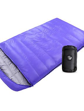 ieftine Sport i aktivnosti na otvorenom-Shamocamel® Sac de dormit În aer liber Sac de Dormit Dublu Lățime -10~-25 °C Dublu Puf de Rață Keep Warm Supradimensionat 210*120 cm pentru Camping & Drumeții Camping & Drumeții Pauză În Aer Liber