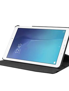 billige Bentoben-Etui Til Samsung Galaxy Tab E 9.6 360° rotasjon / Støtsikker / med stativ Heldekkende etui Ensfarget Hard PU Leather