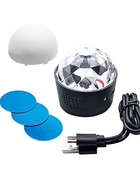 halpa esitysvalot-1 asettaa johti vaiheessa valot ääni ohjaus kristalli magic pallo usb lataus auto dj valot yövalot