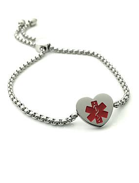 voordelige ID Armband-Dames ID-armband ID Hart Modieus Roestvast staal Armband sieraden Goud / Wit Voor Dagelijks Straat