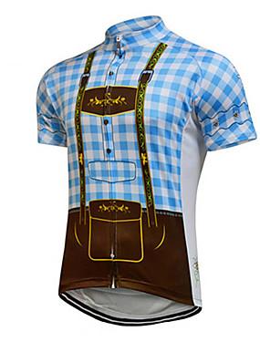 5305033b95 baratos Esporte & Lazer-Homens Mulheres Manga Curta Camisa para  Ciclismo Azul Marinho Verde