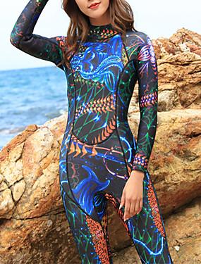 povoljno Sport és outdoor-HISEA® Žene Dugo mokro odijelo 3mm SCR Neopren Ronilačka odijela Ugrijati Quick dry Dugih rukava Povratak Zipper - Plivanje Ronjenje Surfanje Moda Proljeće Ljeto Zima / Rastezljivo